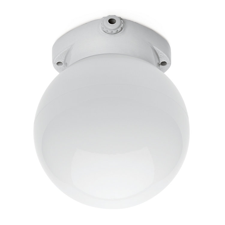 Porcelain Ceiling Light with Matt Glass Sphere Small
