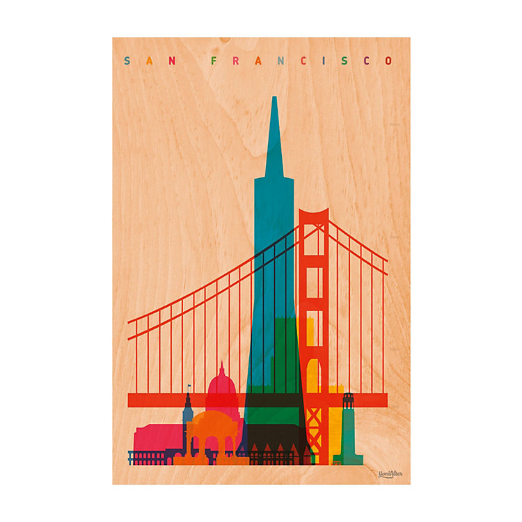 Postkarte Woodhi San Francisco