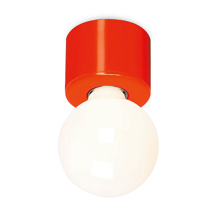 Pot-Shaped Wall and Ceiling Lamp Red