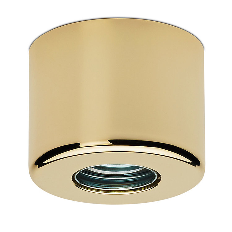 Pot-Shaped Wall and Ceiling Lamp Brass-plated