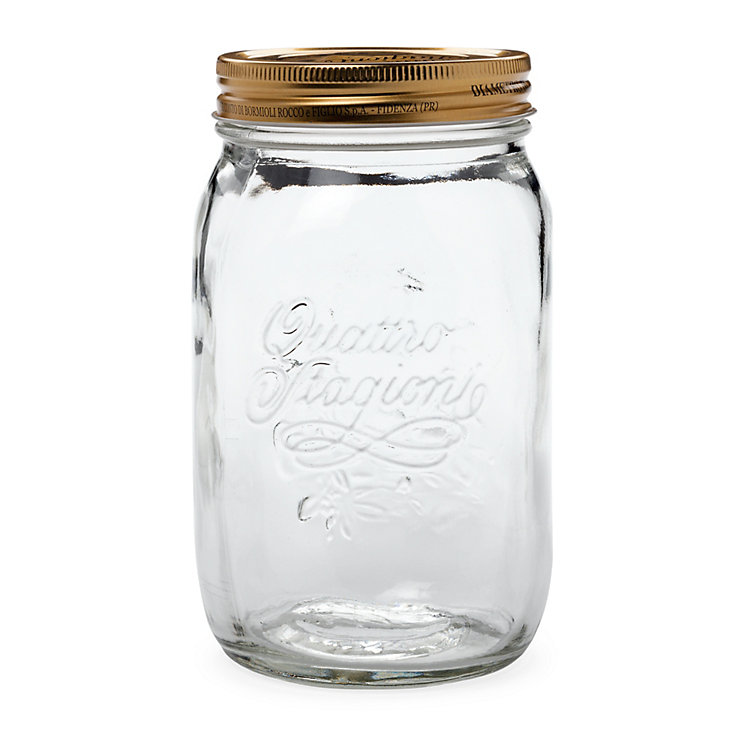 Preserving Jar with Screw Lid Volume 1 l
