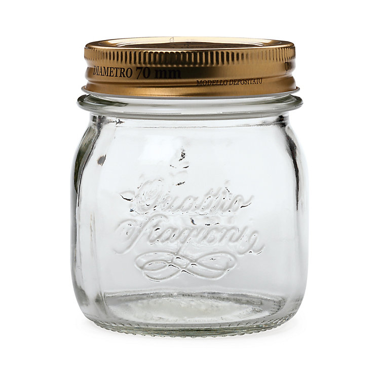 Preserving Jars with Lids Small, 4 pieces