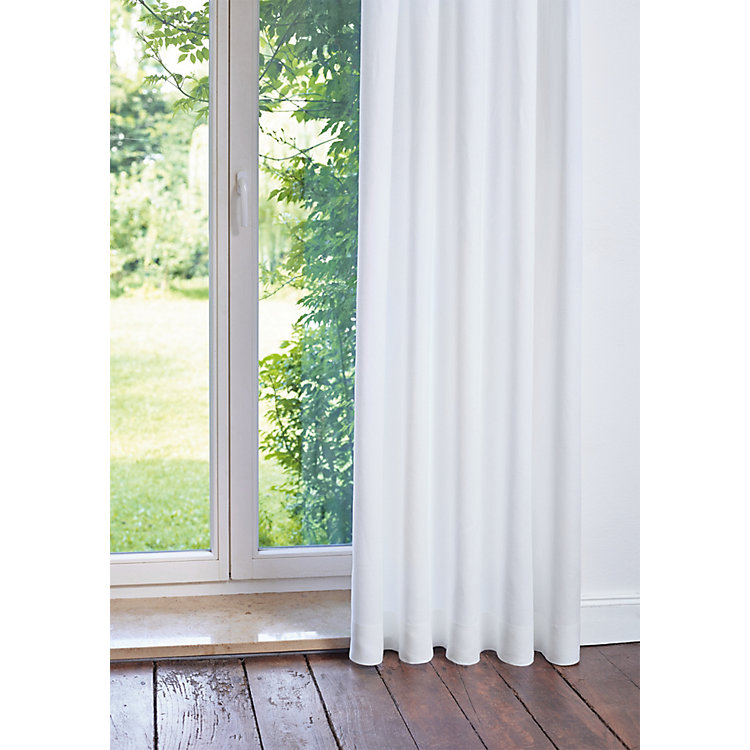 Pure Linen Curtains Height 245 cm White
