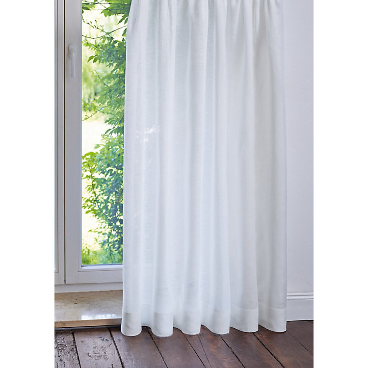 Pure Linen Voile Curtain Height 150 cm