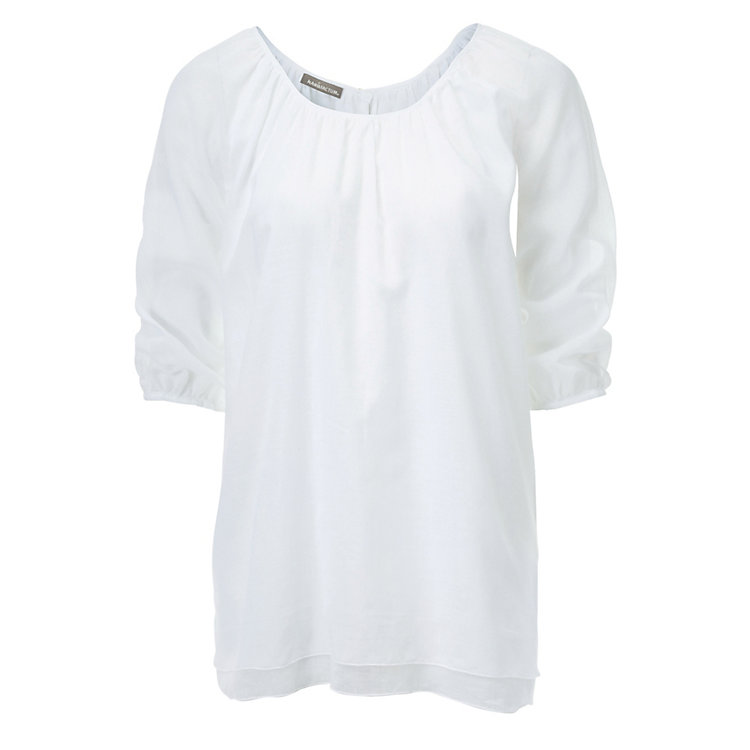 Raglan Blouse Cotton White