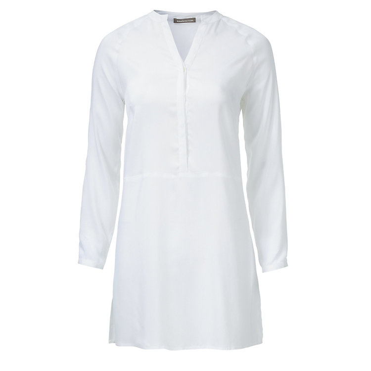 Raglan Tunic Made of Viscose and Silk White