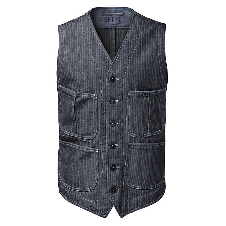 Reds herringbone men's vest