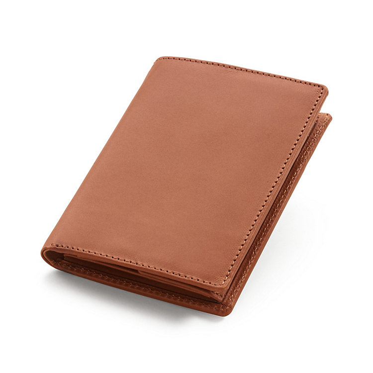 Reindeer Leather Wallet Portrait Format, Light Brown
