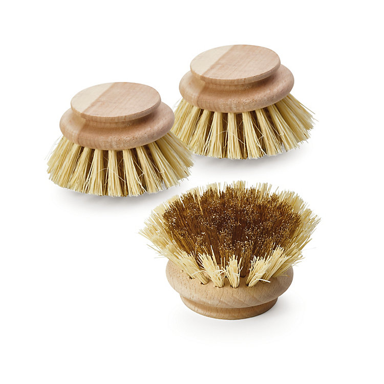 Replacement Heads for Cleaning Brush Made of Brass Wire Replacement Head (Set of 3)