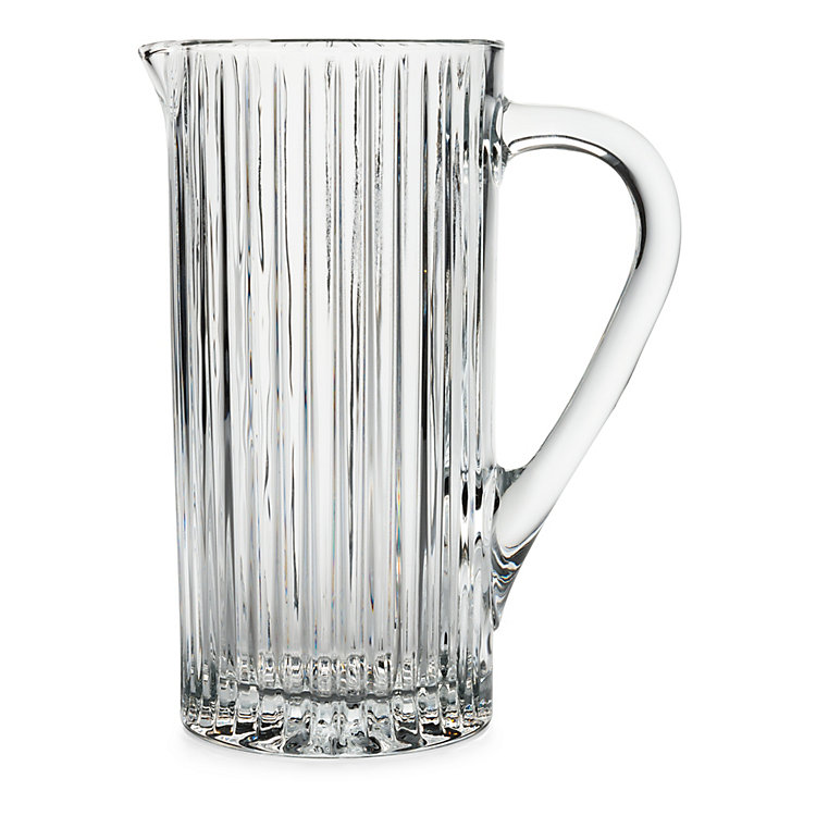 Ridged Glass Carafe