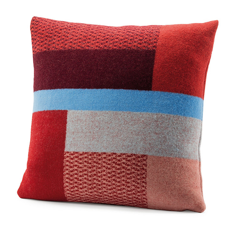 Røros Bauhaus-Style Lambswool Cushion Cover Red