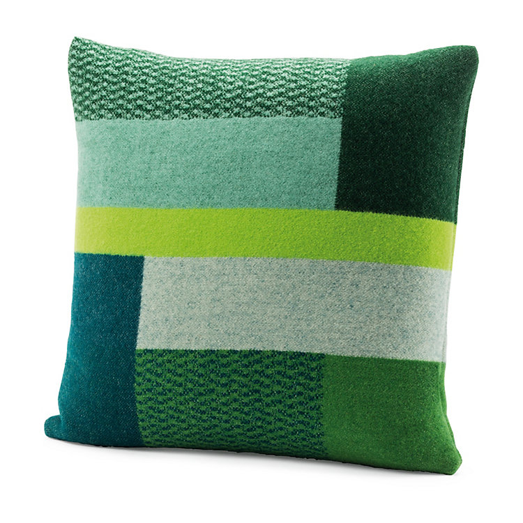 Røros Bauhaus-Style Lambswool Cushion Cover Green