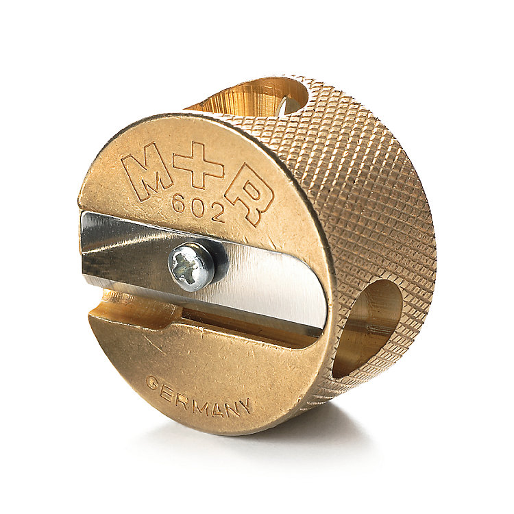 Round Brass Double Sharpener