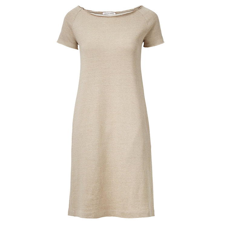Schiess Knit Dress with Short Sleeves Nature