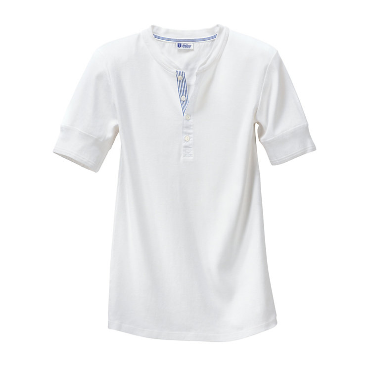 Schiesser Men's Fine Rib Short-Sleeved Undershirt White