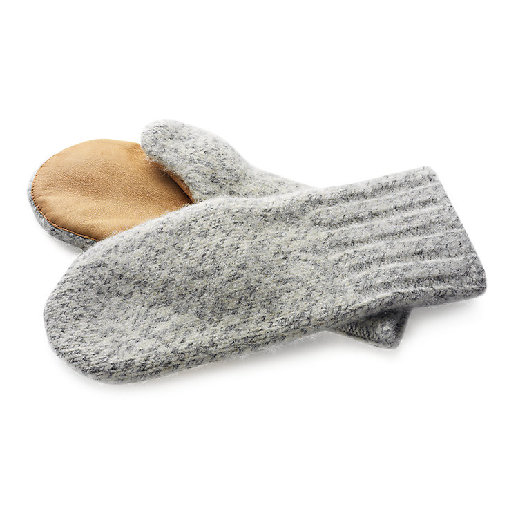 Schladming Fulled Knit Mittens