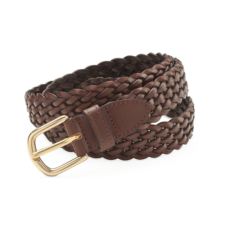 Schröder Braided Belt, Brown