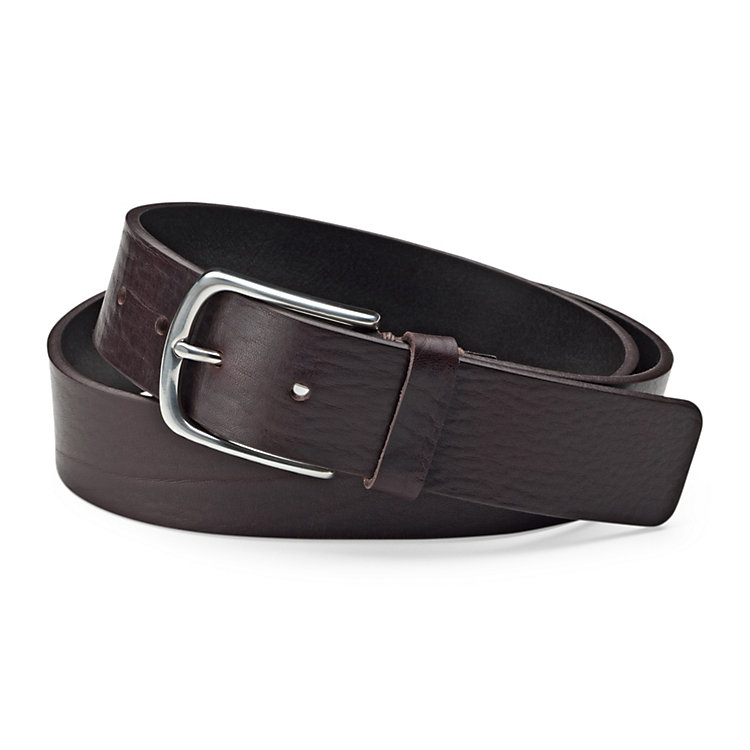 Schröder Cowhide Belt Dark Brown