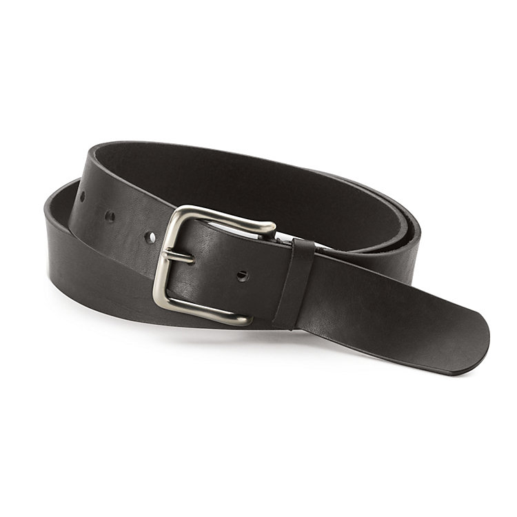 Schröder Men's Harness Leather Belt, Black