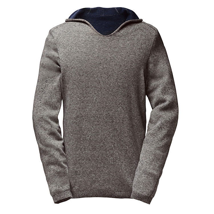 Seldom sweater with hood Grey-black