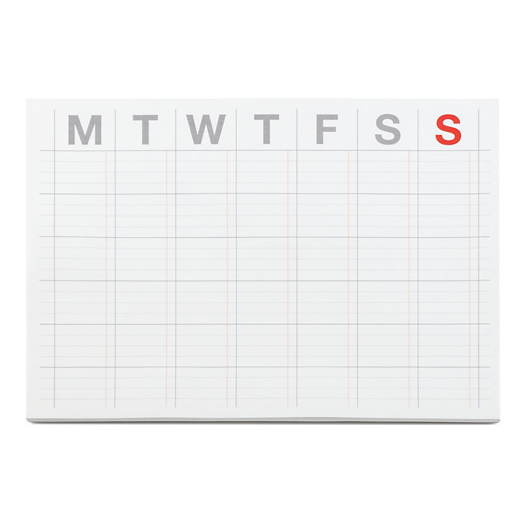 Self-Adhesive Monthly Schedule