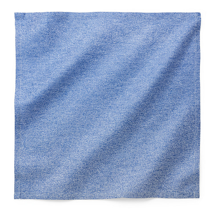 Serviette Degrade, Blau / Weiß