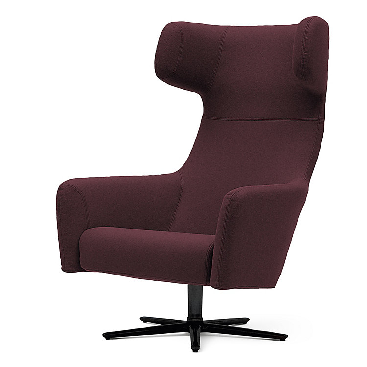 Magazin sessel havanna swivel aubergine manufactum for Magazin manufactum