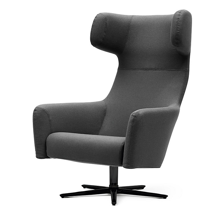 Sessel Havanna Swivel Dunkelgrau