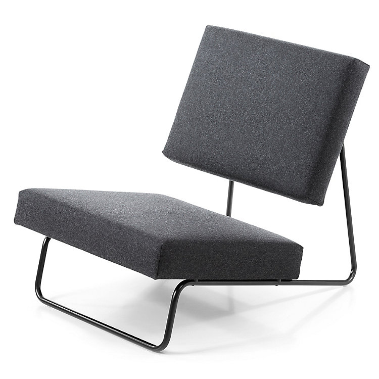 Sessel Lounge Chair Hirche Tiefschwarz RAL 9005