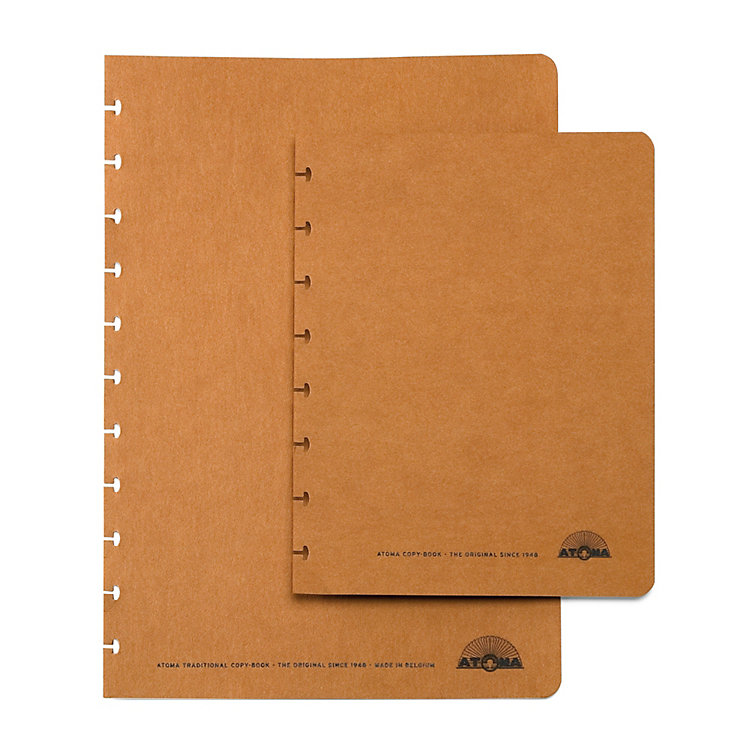 Set of Extra Wide A5 Texon Covers Brown