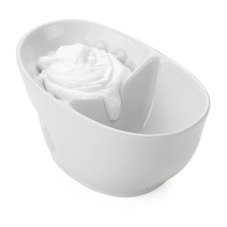 Shaving bowl, porcelain