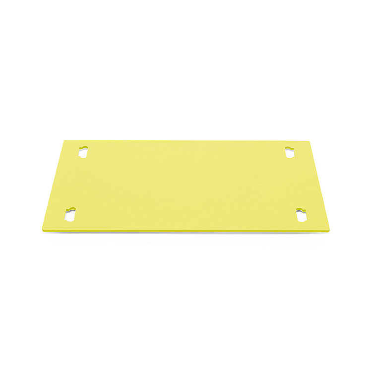 Shelf System BOUNCE Base Plate Single Width Sulfur Yellow RAL 1016