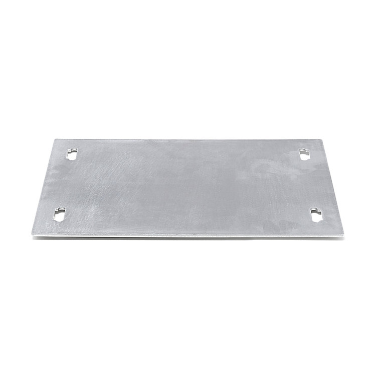 Shelf System BOUNCE Base Plate Single Width Aluminium untreated