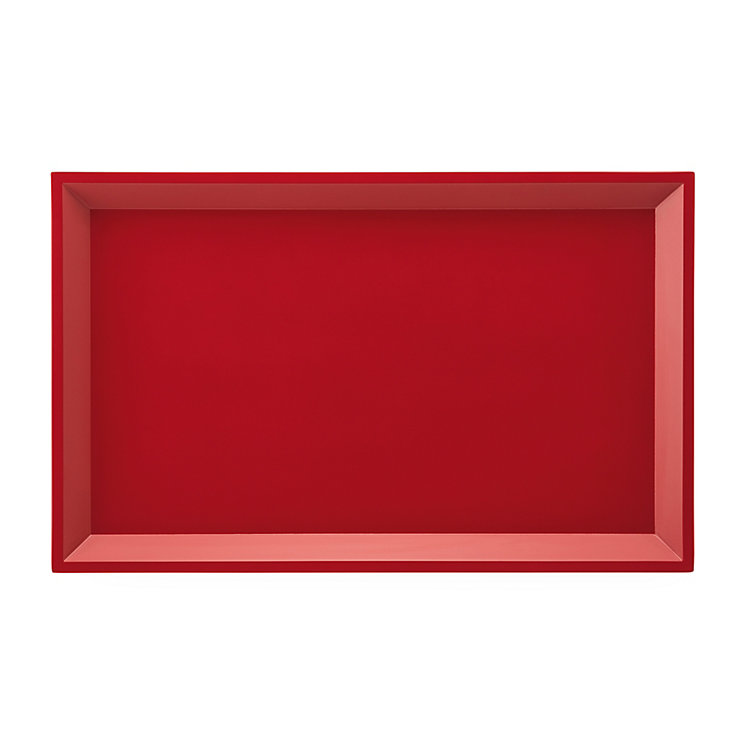 Side Table Modular Tray Rectangle Large Red