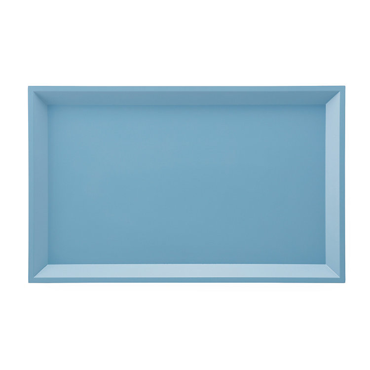 Side Table Modular Tray Rectangle Large, Blue