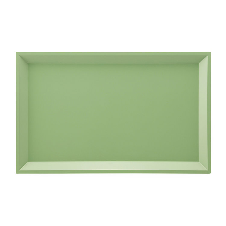 Side Table Modular Tray Rectangle Large Green