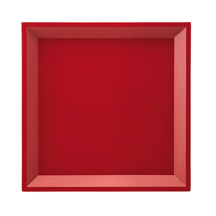 Side Table Modular Tray Square Red