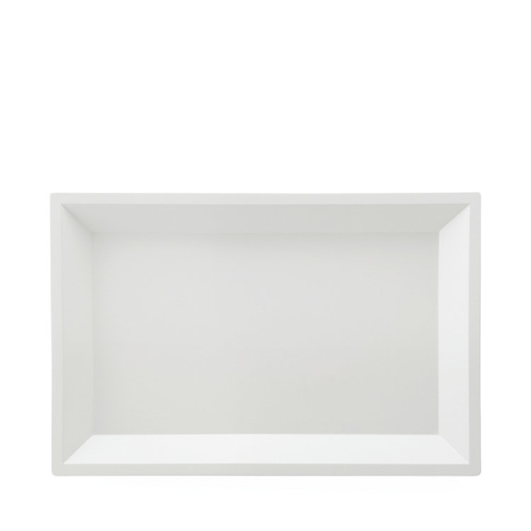 Side Table Modular Tray Square Small White