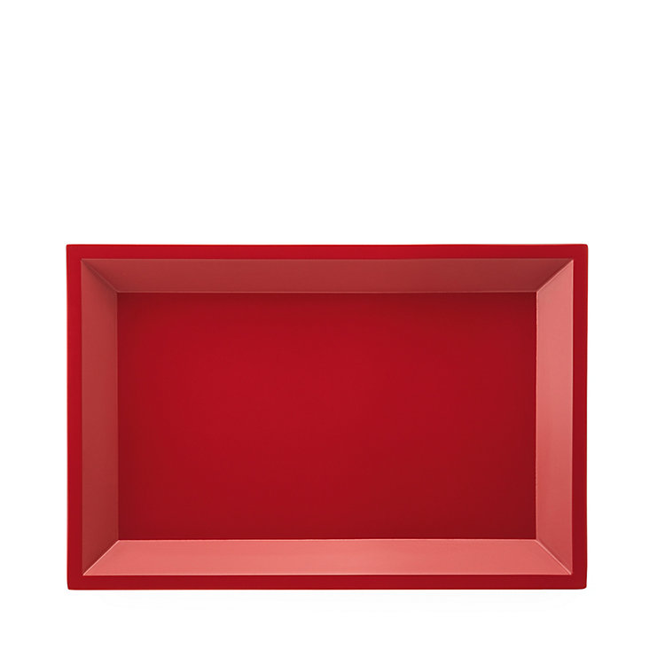 Side Table Modular Tray Square Small Red