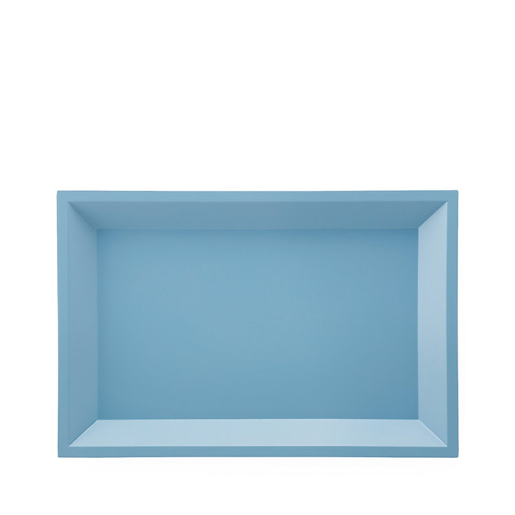 Side Table Modular Tray Square Small Blue