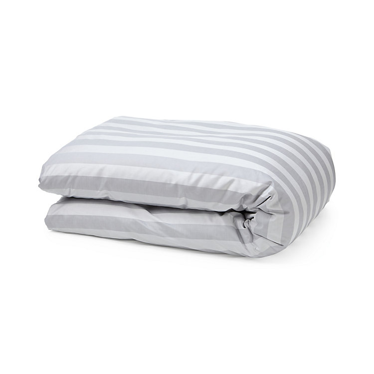 Silver Gray Satin Bed Covers 135 x 200 cm