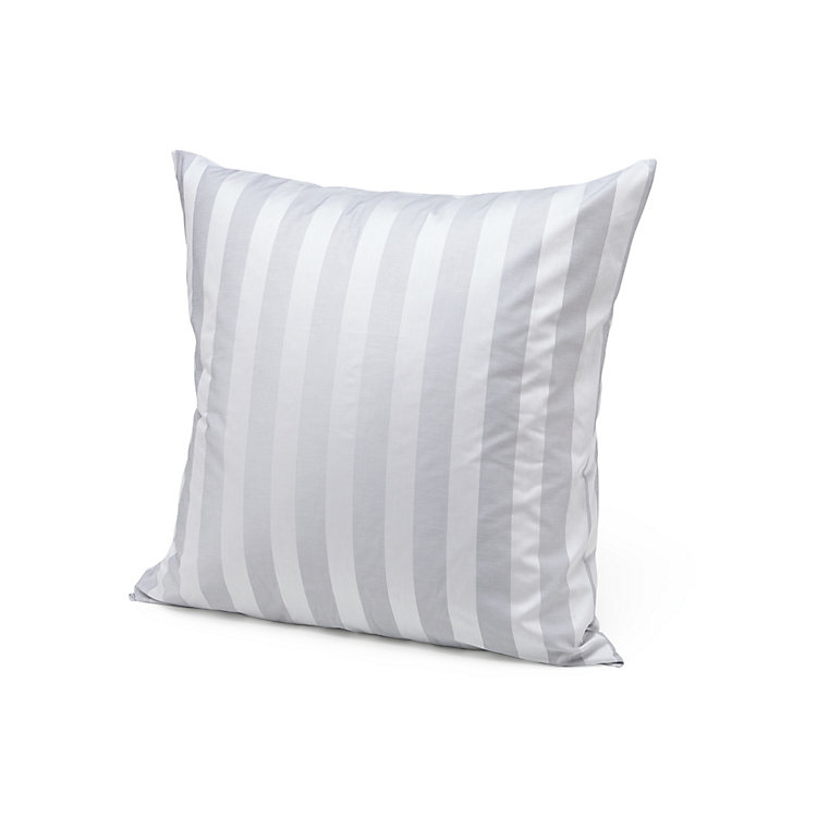 Silver Gray Satin Pillow Cases Silver Grey 80 × 80 cm