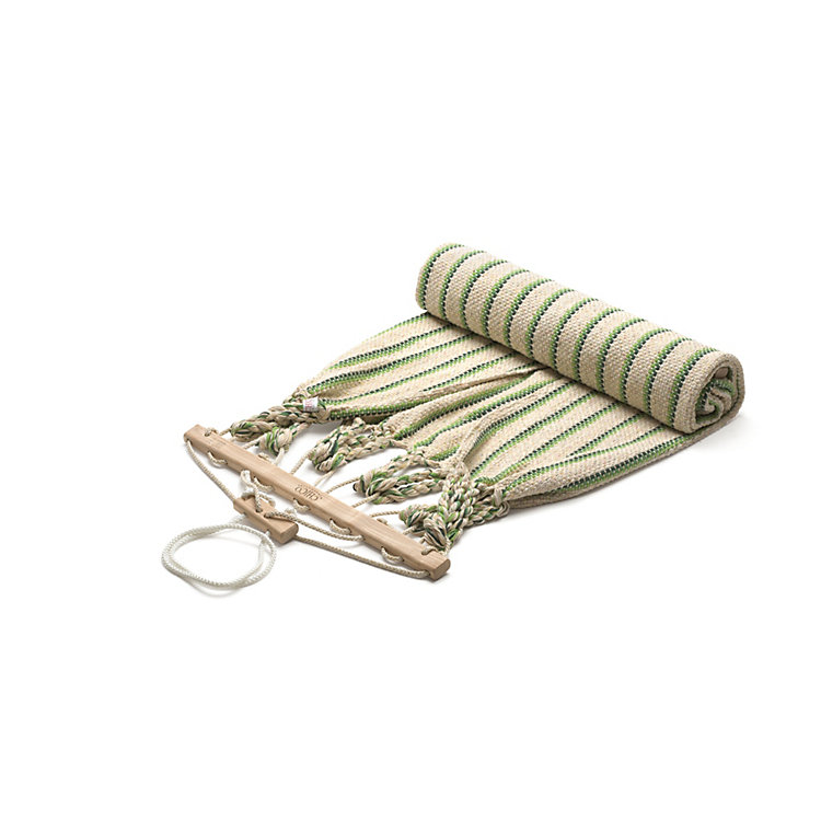 Single Hammock in Cotton, Beige/Green