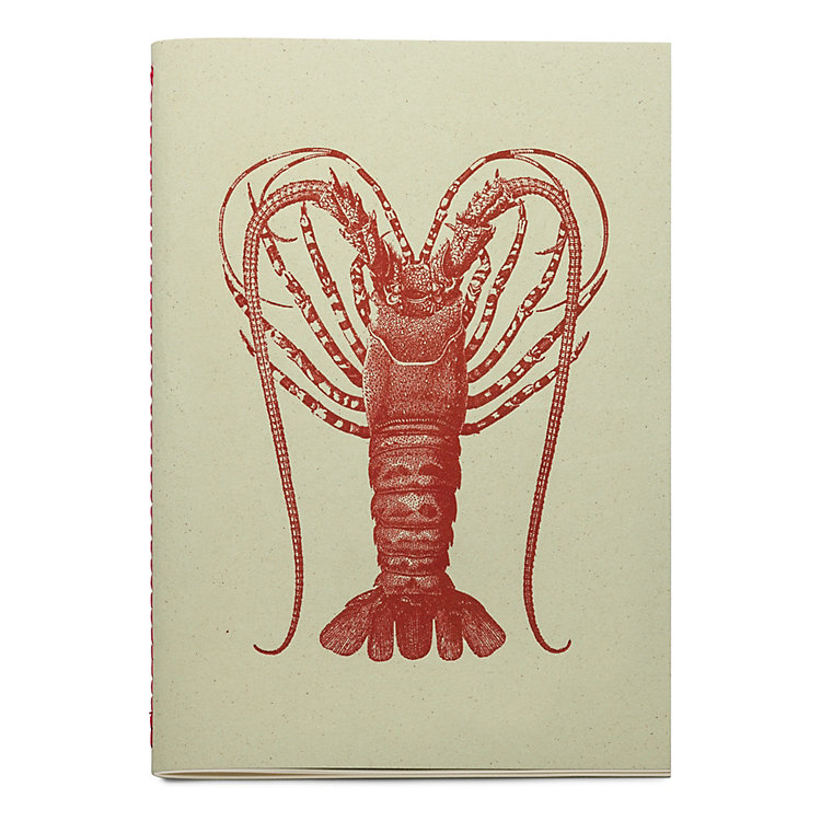 Sketchbook with Animal Motif Spiny Lobster