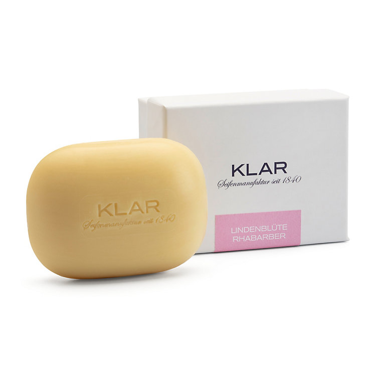 Skincare Soap with Lime Blossom and Rhubarb by Klar