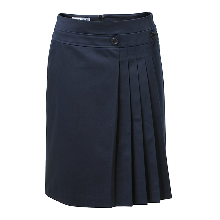 Skirt with Pleats Dark blue