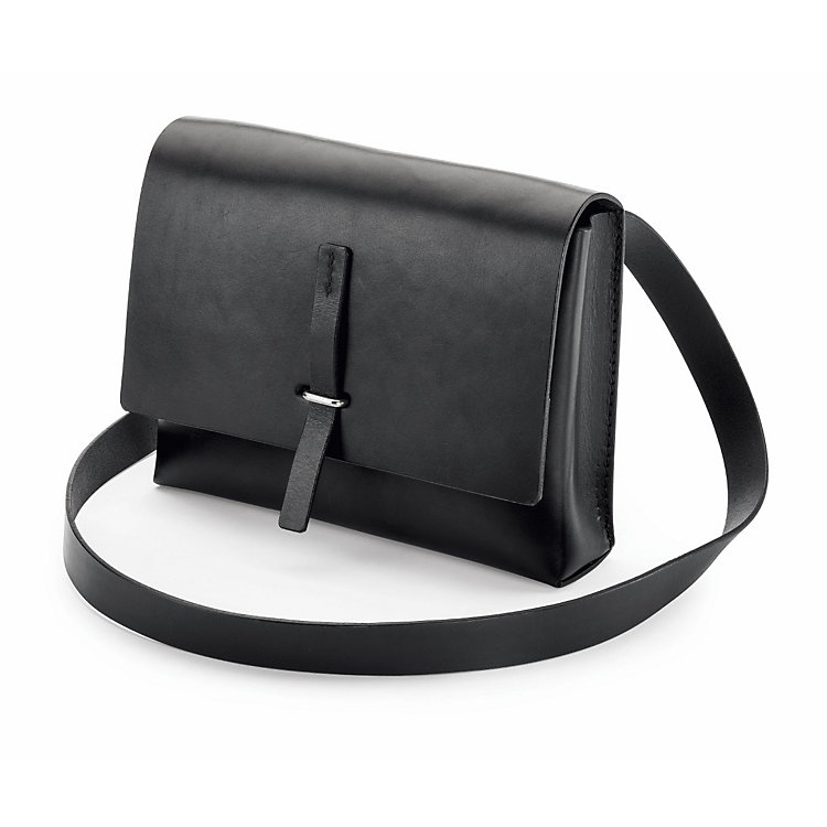 Small Cow Leather Handbag, Black