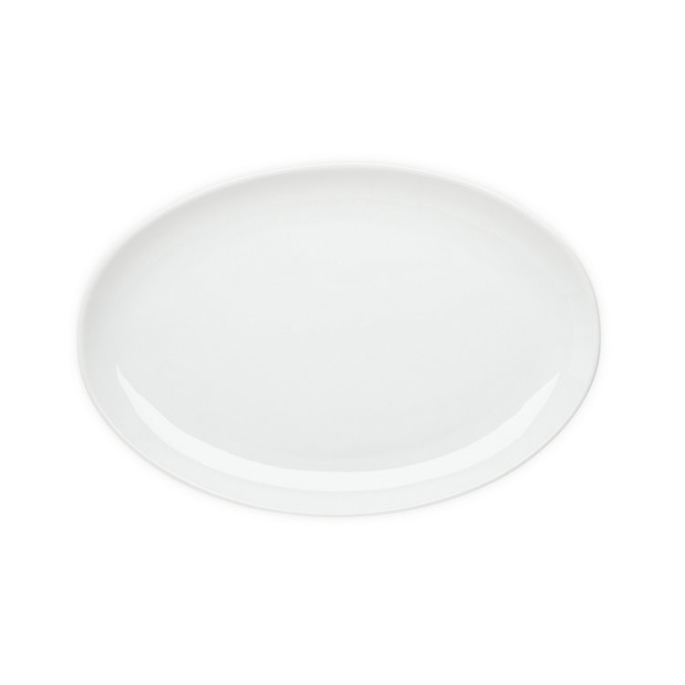 Small Oval Serving Plate White