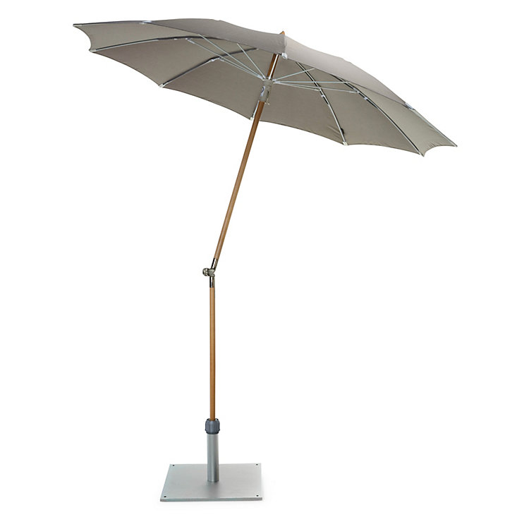 Small Parasol Made of Ash Wood, Stone Grey