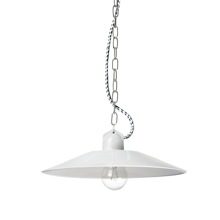 Small Pendant Light by Bolich White